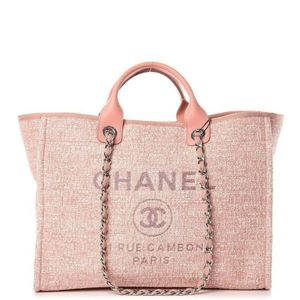 LIKE NEW Chanel Deauville MM Pink